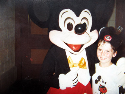 Mickey and I on my first trip to WDW in 1979